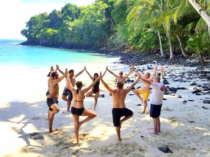 yoga as part of holistic therapy and eco adventure Outdoor Recreation in addiction recovery