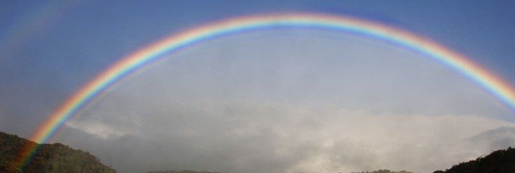 Rainbow over mountain highlands, Chiriqui, Panama - gratitude in recovery