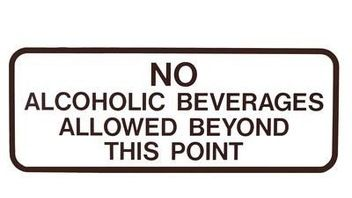No alcohol sign - prevents relapse after treatment