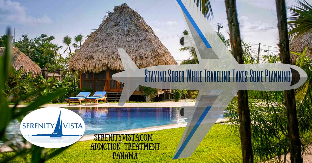 Sober early addiction recovery travel advice tips from Serenity Vista holistic drug rehab in tropical Panama