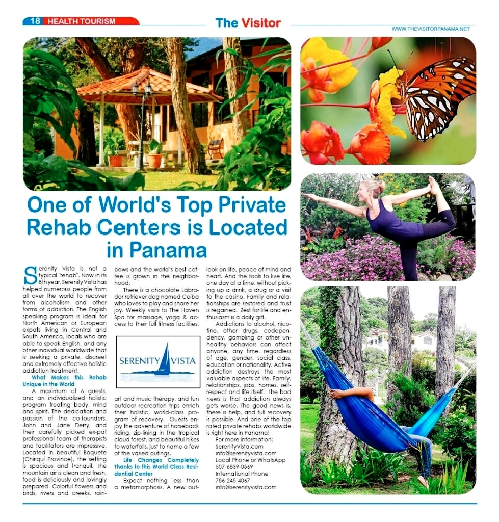 Serenity Vista is recognized as One of the World's Top Rehab Centers
