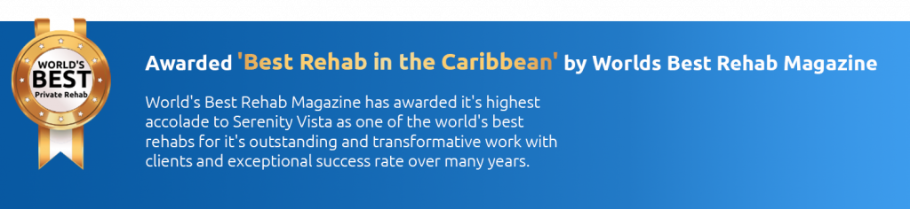 Serenity Vista awarded Best Rehab in the Caribbean by Worlds Best Rehab Magazine